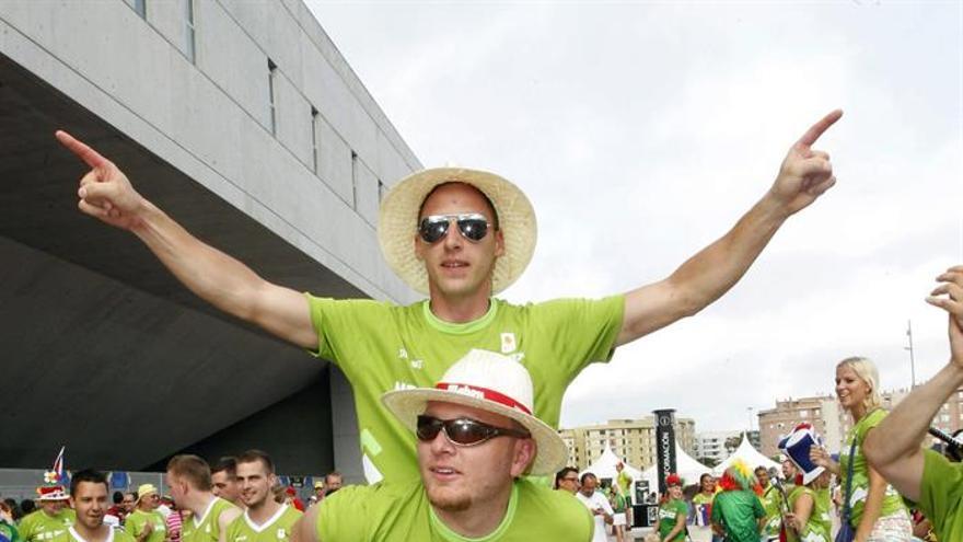 Aficionados en la sede de Gran Canaria del Mundobasket 2014. Efe.