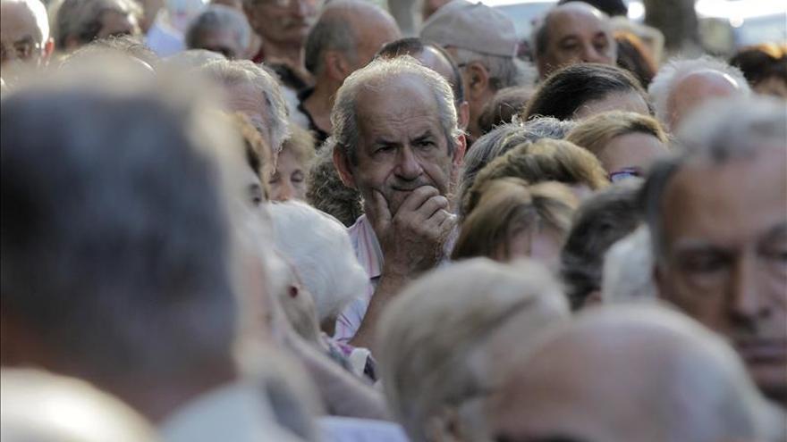 Imagen de archivo de una manifestación de pensionistas.