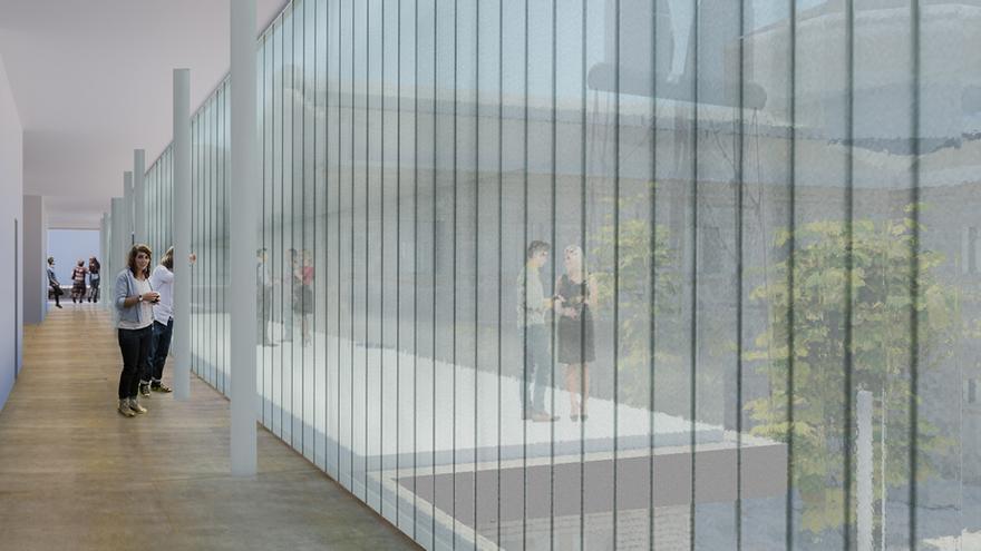 Vista interior del proyecto de rehabilitación de la Cárcel Vieja