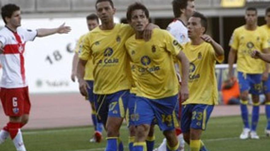 Imagen del último encuentro entre la UD y el Huesca.
