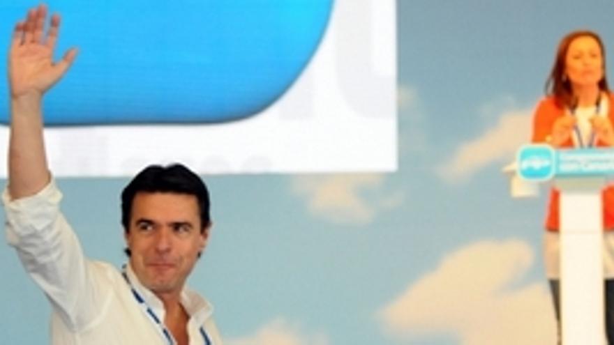 José Manuel Soria, este sábado en el Congreso del PP canario. (ACFI PRESS)