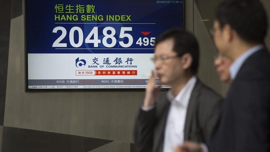 El Hang Seng cede un 0,6 % a media sesión