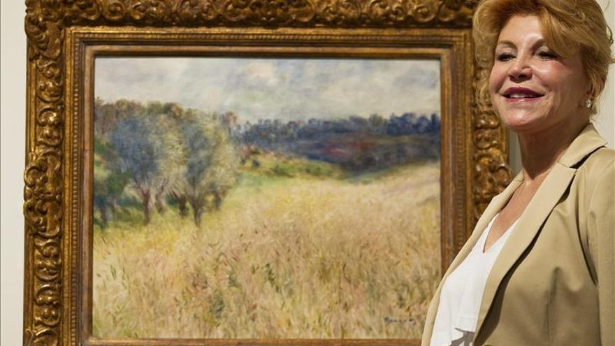 La baronesa Thyssen cede gratuitamente al Estado un año más su colección