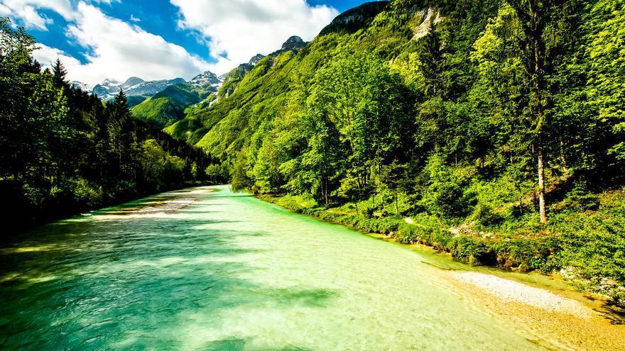 Garganta del Río Soka, en los Alpes Julianos. SLOVENIA.INFO