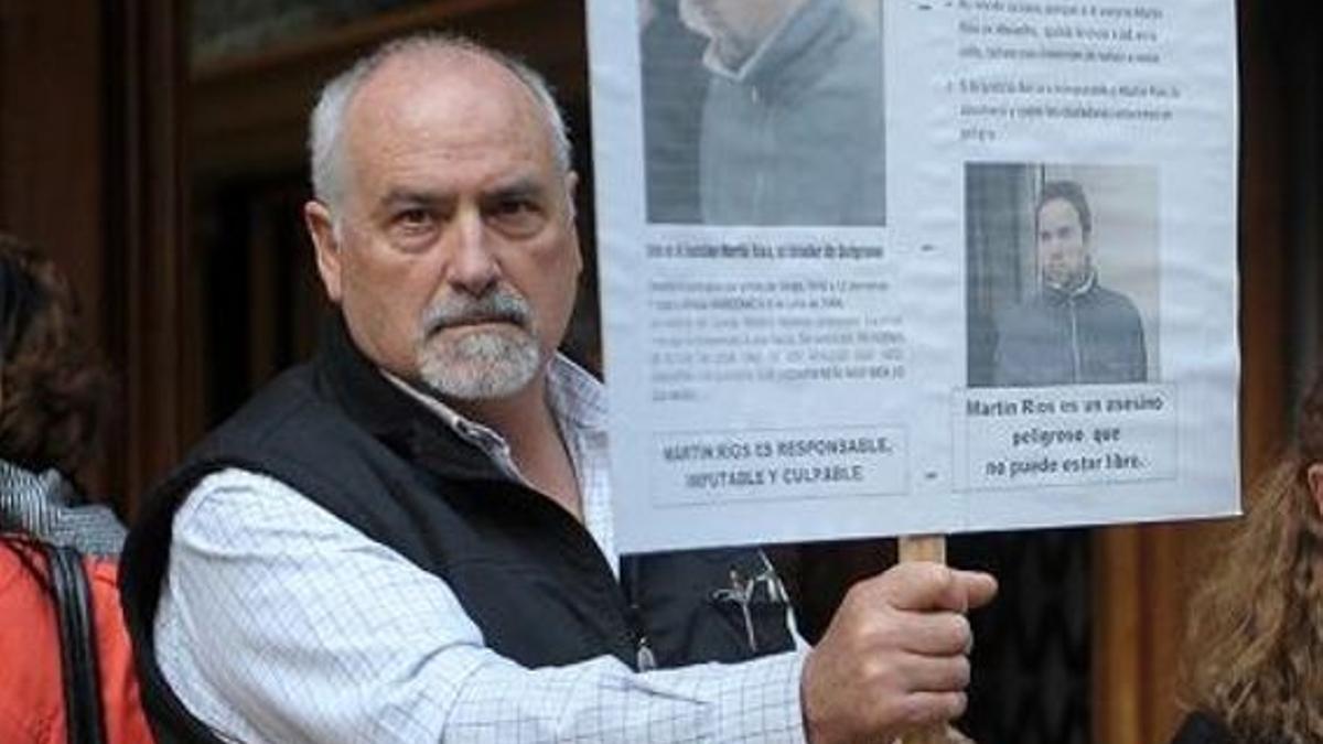 Adrián Marcenac, el padre de Alfredo. A su hijo lo mató Martín Ríos el 6 de julio de 2006, en el barrio de Belgrano..