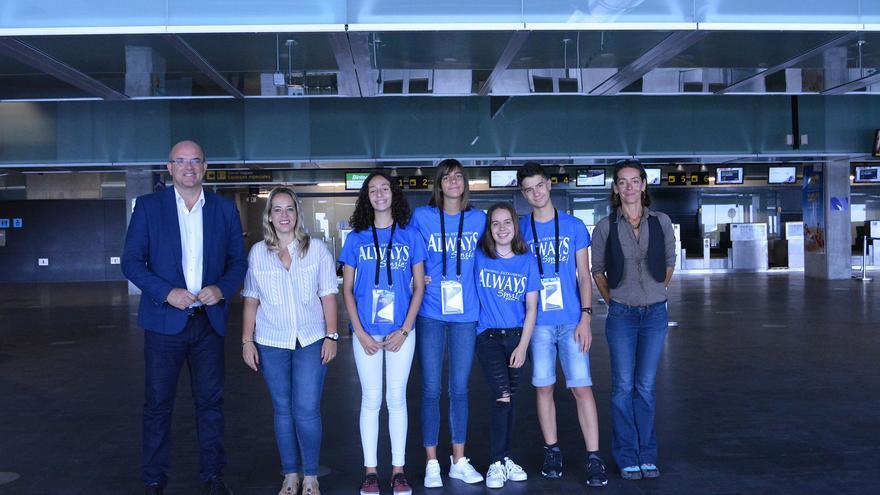 En la imagen, los alumnos que han viajado a Francia.