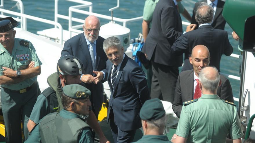 Grande Marlaska supervisa en Behobia y Hondarribia el control de seguridad de Policía y Guardia Civil para el G7