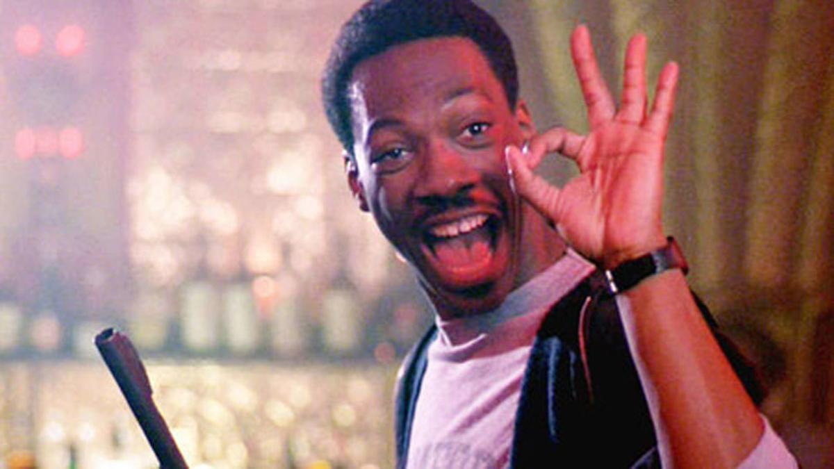 Fotograma de 'Superdetective en Hollywood', uno de los éxitos perdurables del actor neoyorquino