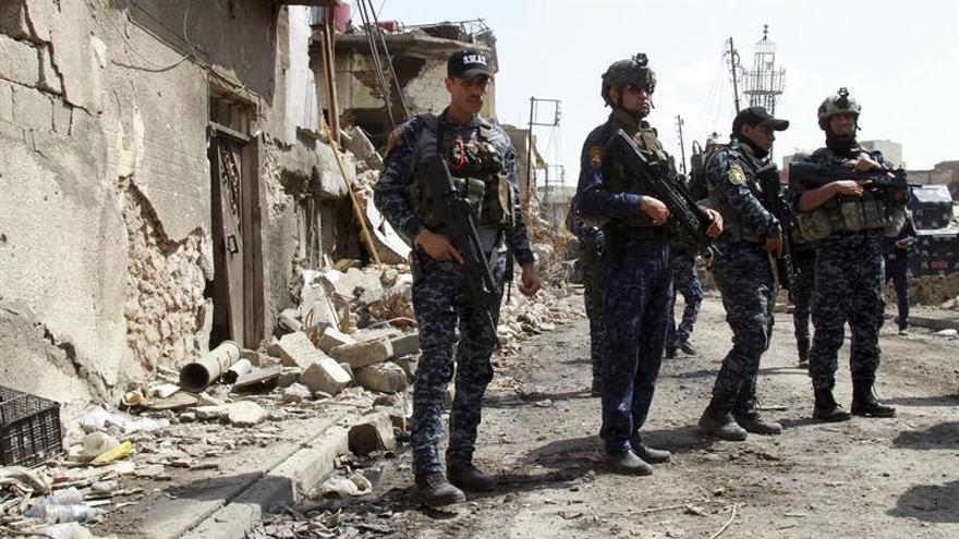 Fuerzas iraquíes recuperan un barrio y una zona industrial del oeste de Mosul