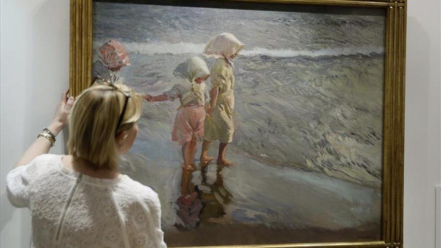"""""""Las tres hermanas en la playa"""", de Sorolla, a subasta en Christie's"""
