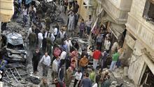 Siete civiles muertos y 50 heridos por bombardeos de los rebeldes en Alepo (Siria)