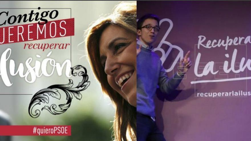 Recuperar la ilusión, lema coincidente entre la campaña de primarias de Díaz y Errejón