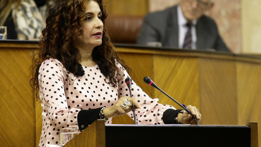 María Jesús Montero en el debate.