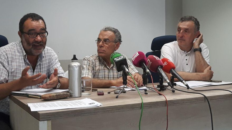 De izquierda a derecha, José Manuel Hernández, Sebastián Rivera y Miguel Ángel Hernández