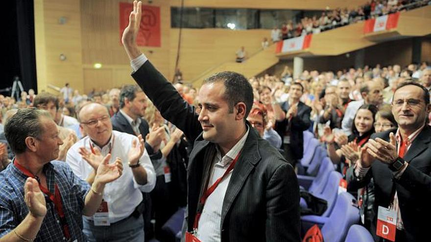 Jorge Alarte fue elegido secretario general del PSPV en el congreso que los socialistas valencianos celebraron en 2008