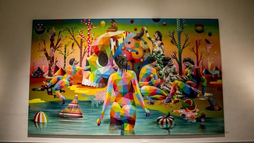 Una de les obres exposades en el Centre del Carme