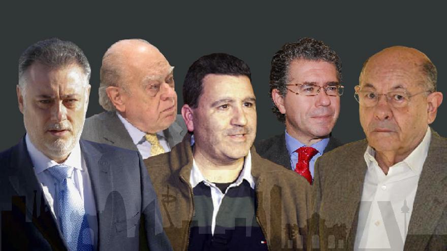 El 3% que acerca a Madrid y Cataluña: mismos testaferros, marisquerías, cotos de caza y palcos de fútbol.