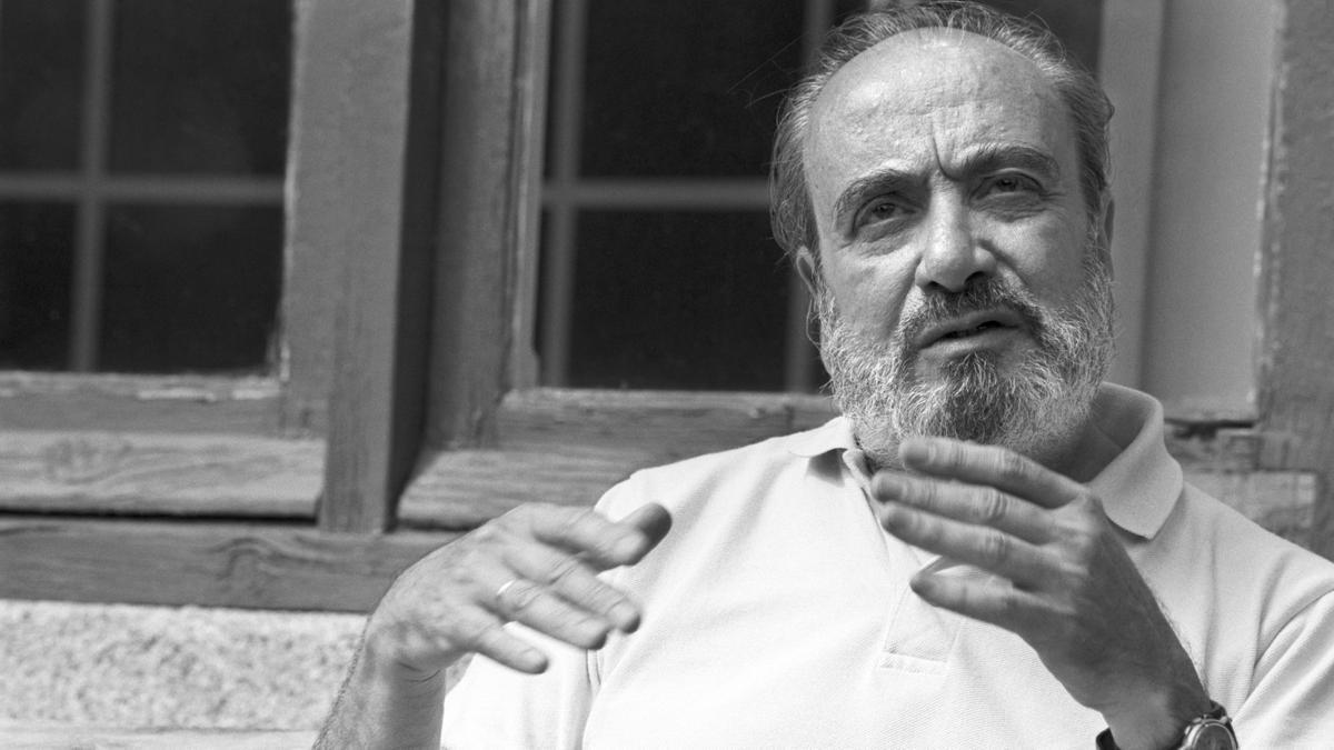 Alfonso Sastre en un curso de verano de la Universidad Complutense de Madrid, en 1990