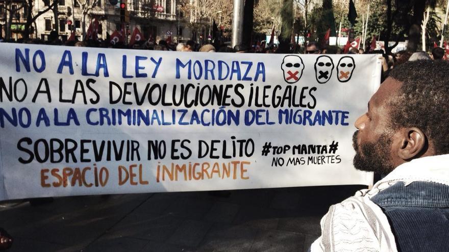 Concentración en Barcelona contra la 'ley mordaza'. \ Juan Luis Sánchez