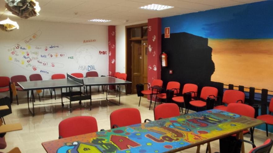En la imagen, una de las tres aulas de uso multifuncional del la Casa de la Juventud de San Andrés y Sauces.
