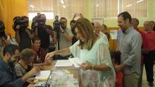 GALERÍA: Los líderes andaluces votan en unas elecciones municipales decisivas