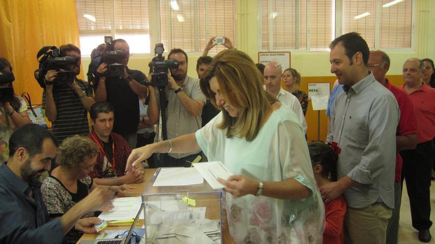 """Díaz afirma que hoy es un gran día para la democracia y espera que nadie piense en """"trueques o cambalaches"""""""