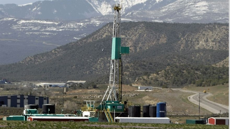 Pozo de fracking para la extracción de gas.