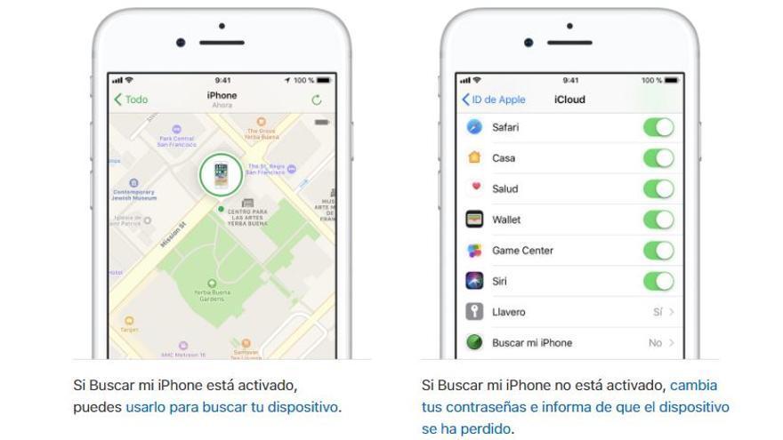 Recomendaciones de Apple ante la pérdida de un iPhone