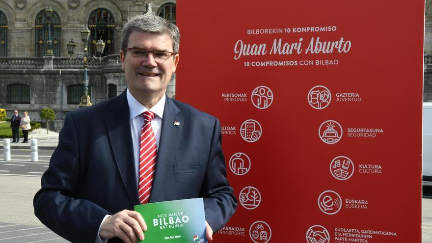 Juan María Aburto, en un acto de la campaña electoral.