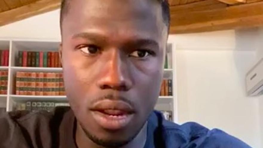 El futbolista Keita Baldé, en el directo de Instagram