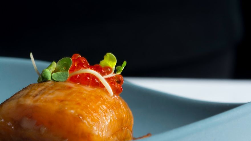 Trucha laqueada con salsa hoisin