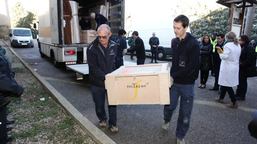 Llegada de los bienes al Monasterio de Sijena