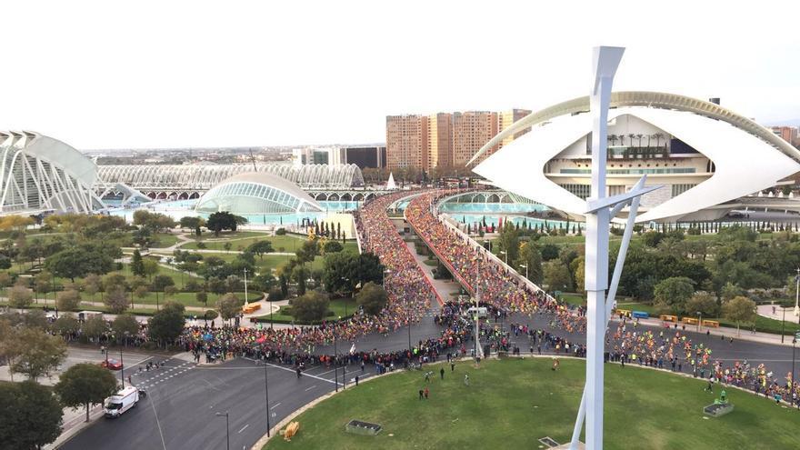 Un momento del maratón de Valencia 2016.