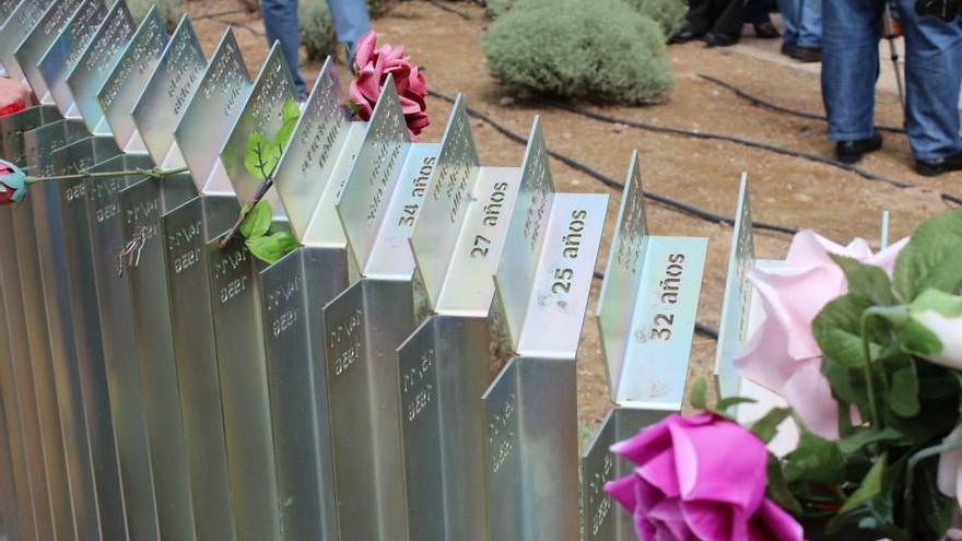 Homenaje a las victimas del franquismo en el cementerio de Torrero.