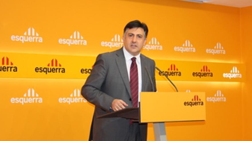 El presidente de ERC, Joan Puigcercós.