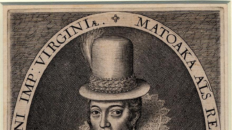 """Pocahontas era la hija de Wahunsonacock, el jefe de la tribu nativa norteamericana powhatan. Los indios powhatanes pertenecían a una confederación de unas treinta tribus; su hogar era la región que los colonos europeos llamaron Virginia. El verdadero nombre de Pocahontas era Matoaka; Pocahontas era un apodo que significaba """"Pequeña silenciosa"""". Se piensa que a los doce años salvó al capitán inglés John Smith de ser ejecutado, después de que este hubiera sido capturado por un grupo de hombres powhatanes. Pocahontas fue aprisionada por los ingleses en 1613. Durante su cautiverio cambió su nombre por el de Rebecca, se convirtió al cristianismo y contrajo matrimonio con el inglés John Rolfe, con quien tuvo un hijo, Thomas Rolfe. John Rolfe y Pocahontas se embarcaron hacia Inglaterra en 1616, donde fue presentada al rey Jaime I y ante los miembros de la alta sociedad inglesa como una """"salvaje civilizada"""". En 1617, al inicio de su viaje de regreso a los Estados Unidos, Pocahontas enfermó gravemente y murió en Gravesend, Reino Unido, a la edad de 22 años. En un mensaje del registro parroquial de la iglesia de Gravesend donde fue enterrada se puede leer: Rebecca Wroth, mujer del caballero Thomas Wroth, una mujer de Virginia, fue enterrada en el presbiterio.  Su hijo Thomas regresó más tarde a su casa. Muchas son las personas que se proclaman descendientes de Pocahontas."""
