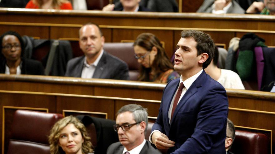 Albert Rivera, en la primera sesión del Congreso de los Diputados. / Marta Jara