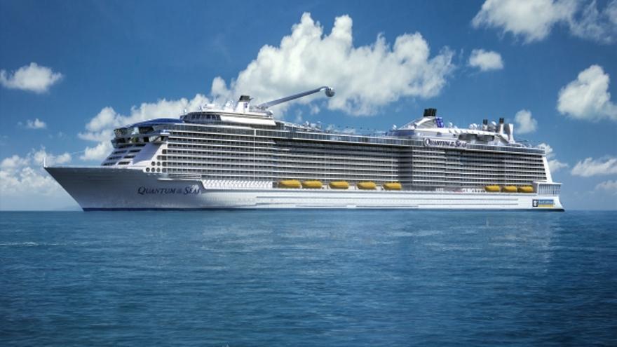 Crucero 'Anthem of the Seas', considerado como el segundo mayor buque del mundo en transporte de pasajeros.