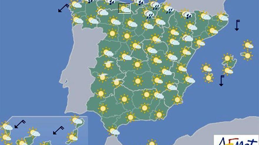Hoy, lluvias en Cantábrico, Alto Ebro y posibles tormentas en los Pirineos