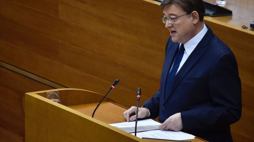Ximo Puig durante el discurso en la toma de posesión como president de la Generalitat