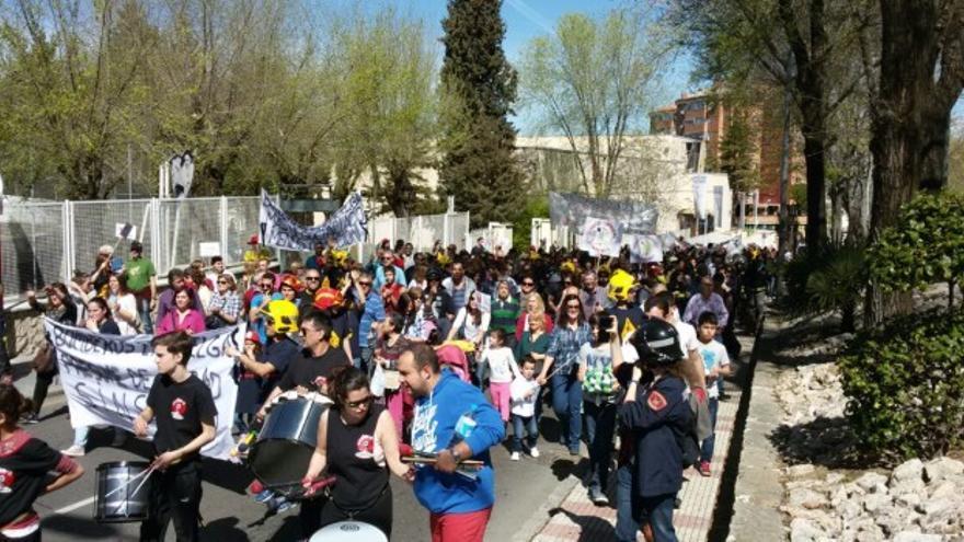 Movilización en apoyo de los bomberos de Guadalajara