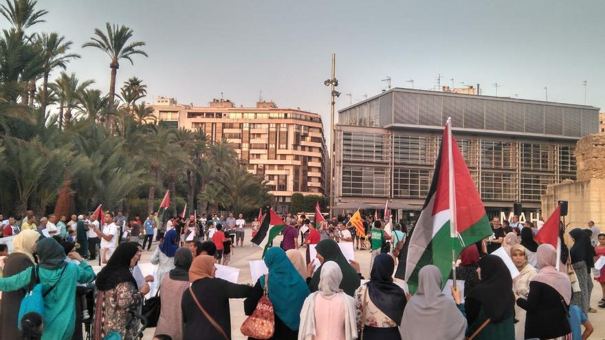 Protesta contra la participación de Israel en el festival de Cine de Elche.