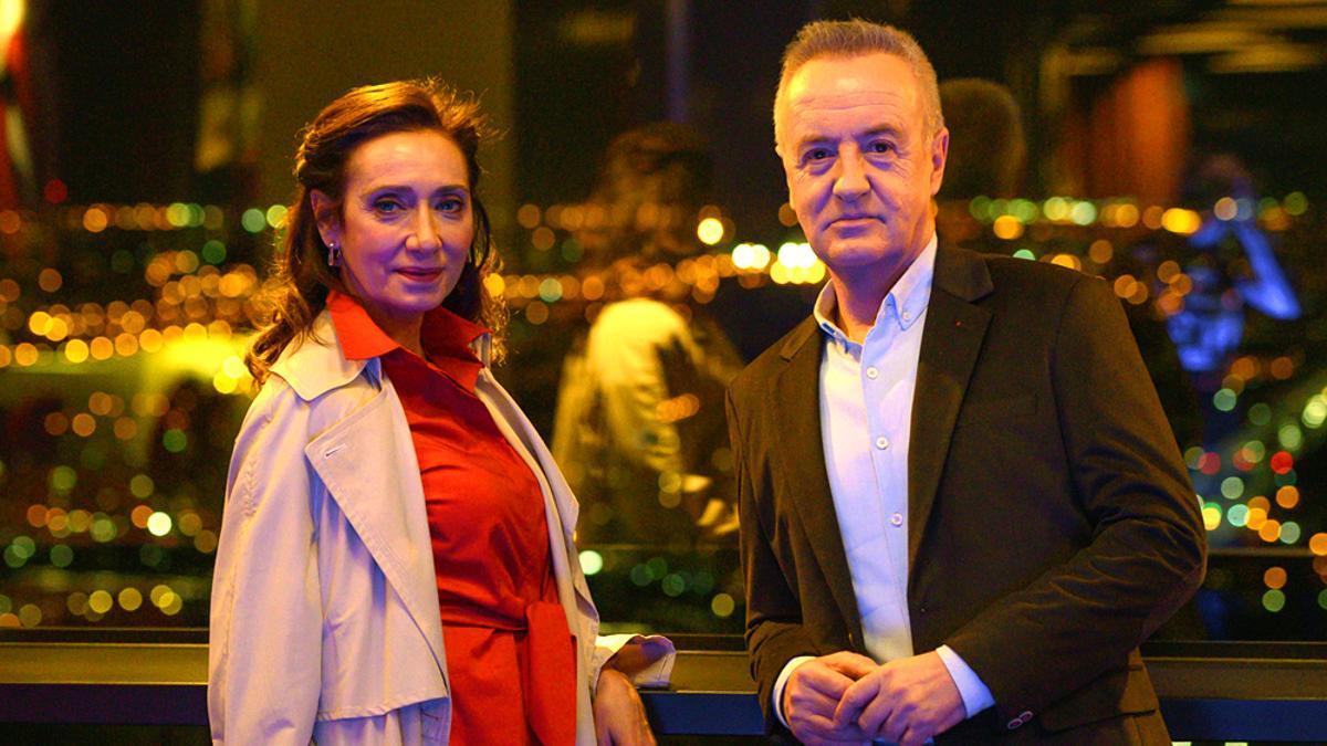 Rosana Pastor y Carlos Hipólito, como Karina y Carlos en 2020
