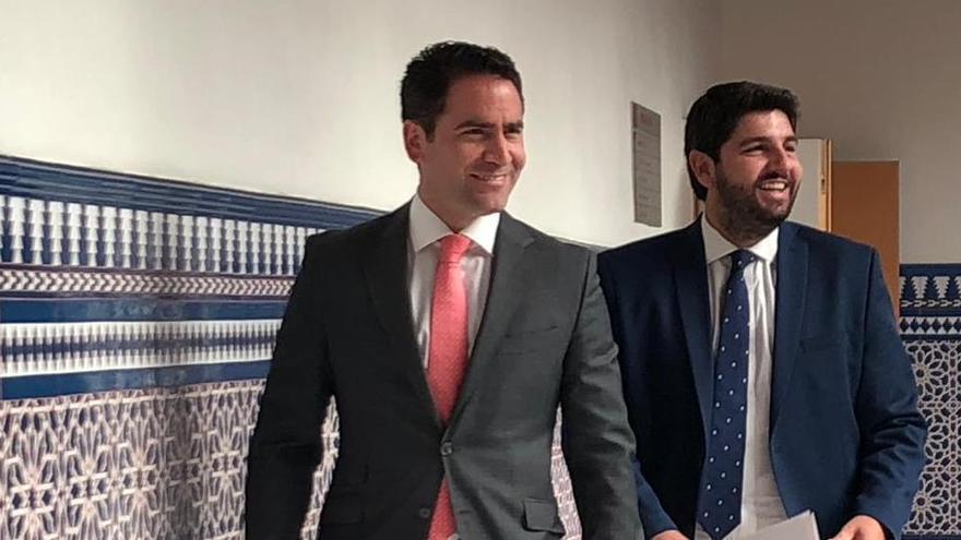 Teodoro García Egea, Fernando López Miras y Joaquín Segado