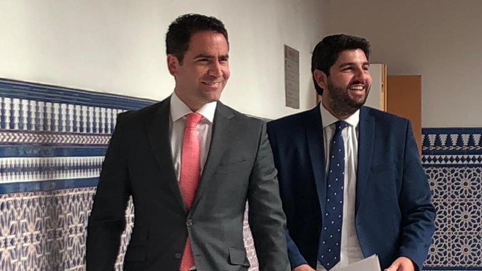 Teodoro García Egea y Fernando López Miras