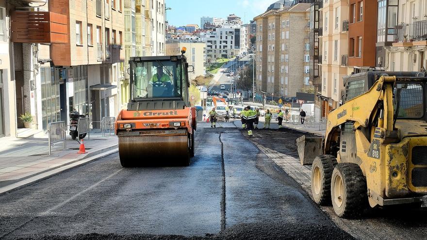 Las obras del tramo final de la calle del Sol afrontan su última fase