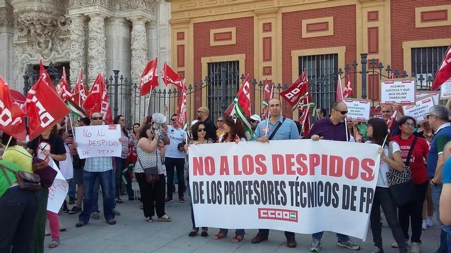 CCOO exige a la Junta una solución para el profesorado técnico de FP en la primera jornada de huelga y movilización