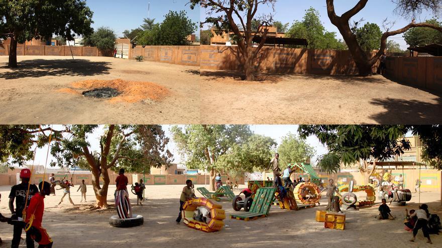 RUS Niamey, intervención de Basurama en Niamey (Níger) / basurama.org