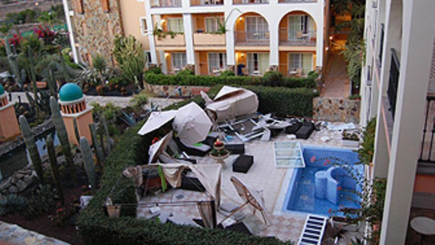 Zona cero de la explosión en el hotel. (CANARIASAINVESTIGA.ORG)