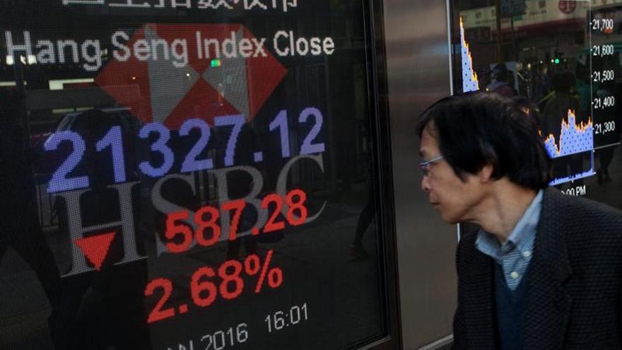 El Hang Seng pierde un 0,87 % a media sesión